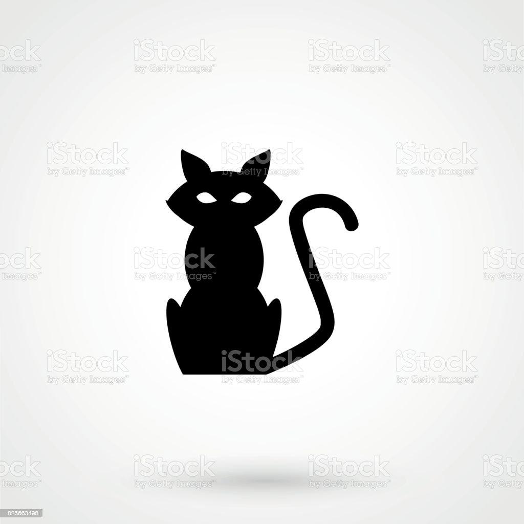 6545130b0aac4 Ilustración de Icono De Gato Gato Sombra De Gato Gato y más Vectores ...