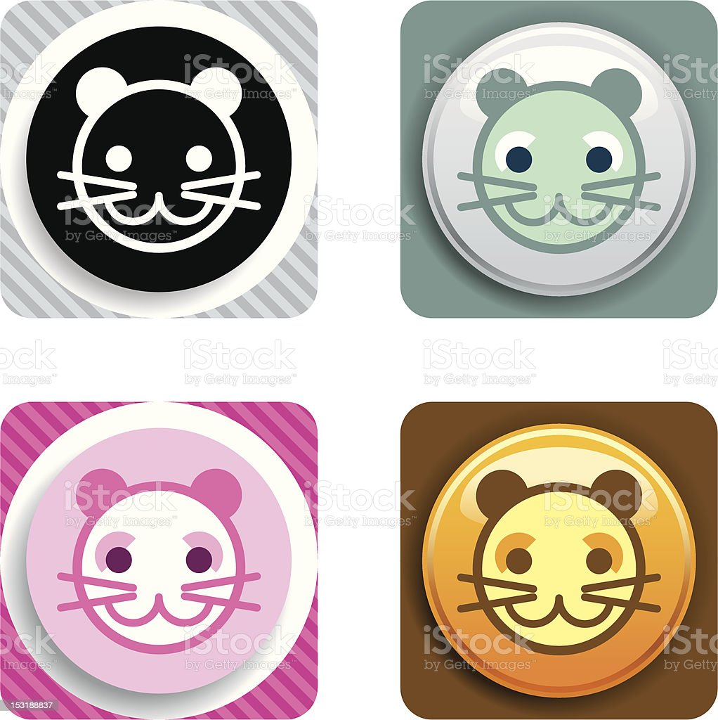 Cat Icon royalty-free cat icon stock vector art & more images of animal