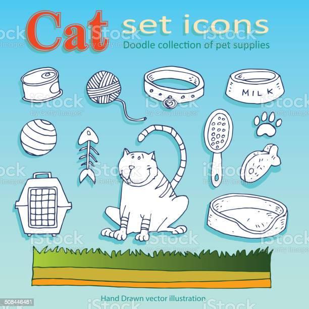 Cat icons doodle vector id508446481?b=1&k=6&m=508446481&s=612x612&h=lgewbvbkbtudsy7m kxgg5gluwuqwahoxz8r68ahjmc=