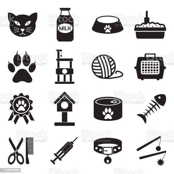Cat icons set 2 black flat design vector illustration vector id1138809384?b=1&k=6&m=1138809384&s=612x612&h=m2xiwixwvst6zb55cdw96x9maik dvf21egpvy7kbl4=