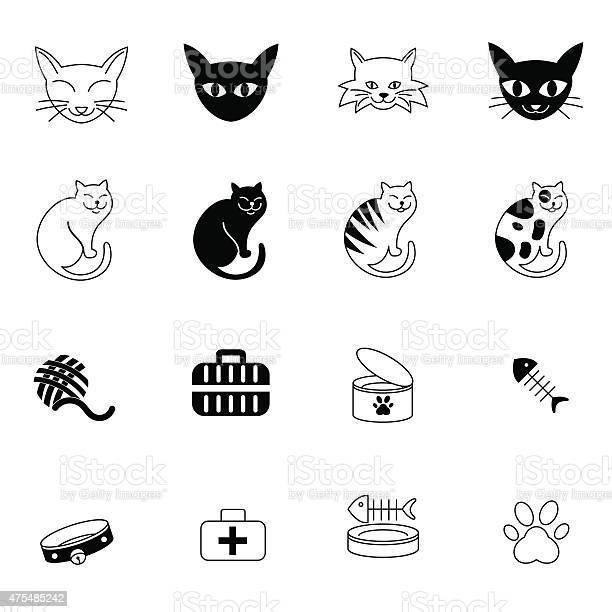Cat icons set vector illustration vector id475485242?b=1&k=6&m=475485242&s=612x612&h=mk7wlfh4wceoybcpnmwg nuzrl8mkaawk12xbw0ui0w=