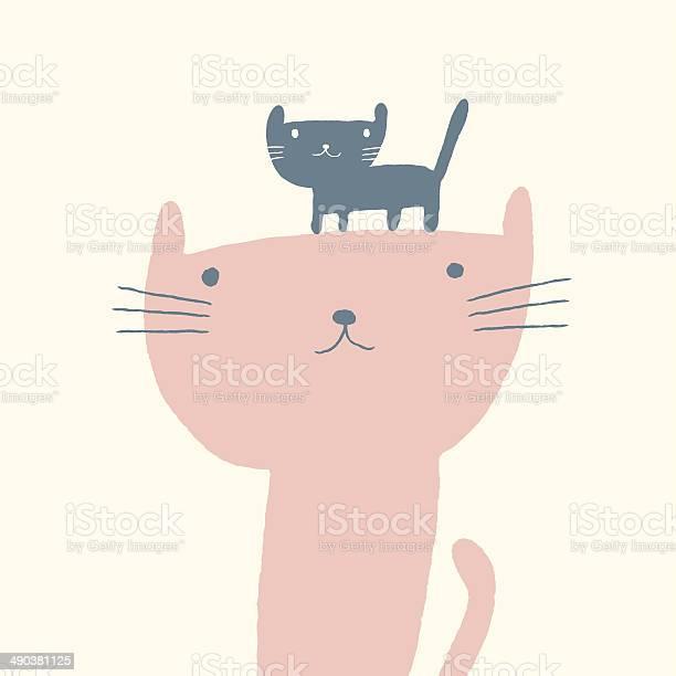 Cat illustration for mothers day vector id490381125?b=1&k=6&m=490381125&s=612x612&h=tq6hhiutoehmwhqymbpd9fn nnsrah5 uytqwzzmqic=