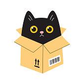 istock Cat in a box 1290285412