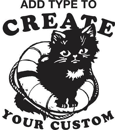 Cat in Lifebuoy Design Format