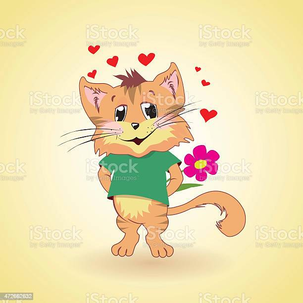 Cat in love cartoon illustration vector id472662632?b=1&k=6&m=472662632&s=612x612&h=gvy7cl9s 7fkesygssn7wbyagnewjgn2ozwylbroefq=