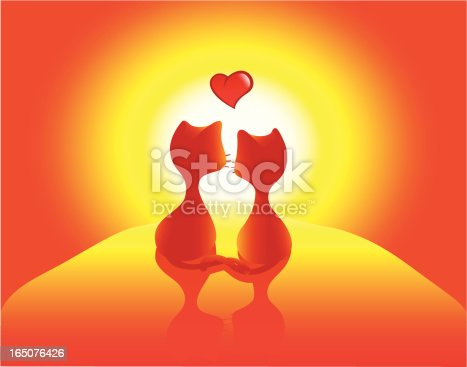 istock Cat in love 165076426