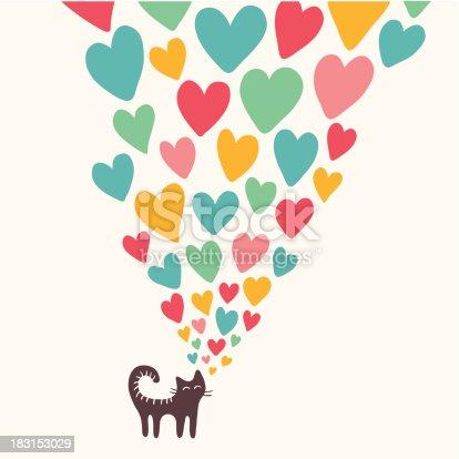 Cat in love