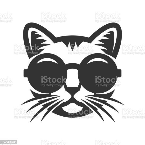 Cat in round sunglasses icon vector id1070887284?b=1&k=6&m=1070887284&s=612x612&h=hkl0yfofq7l12hckmznvs a7tr7w7y6ch4a5jlkdzrk=