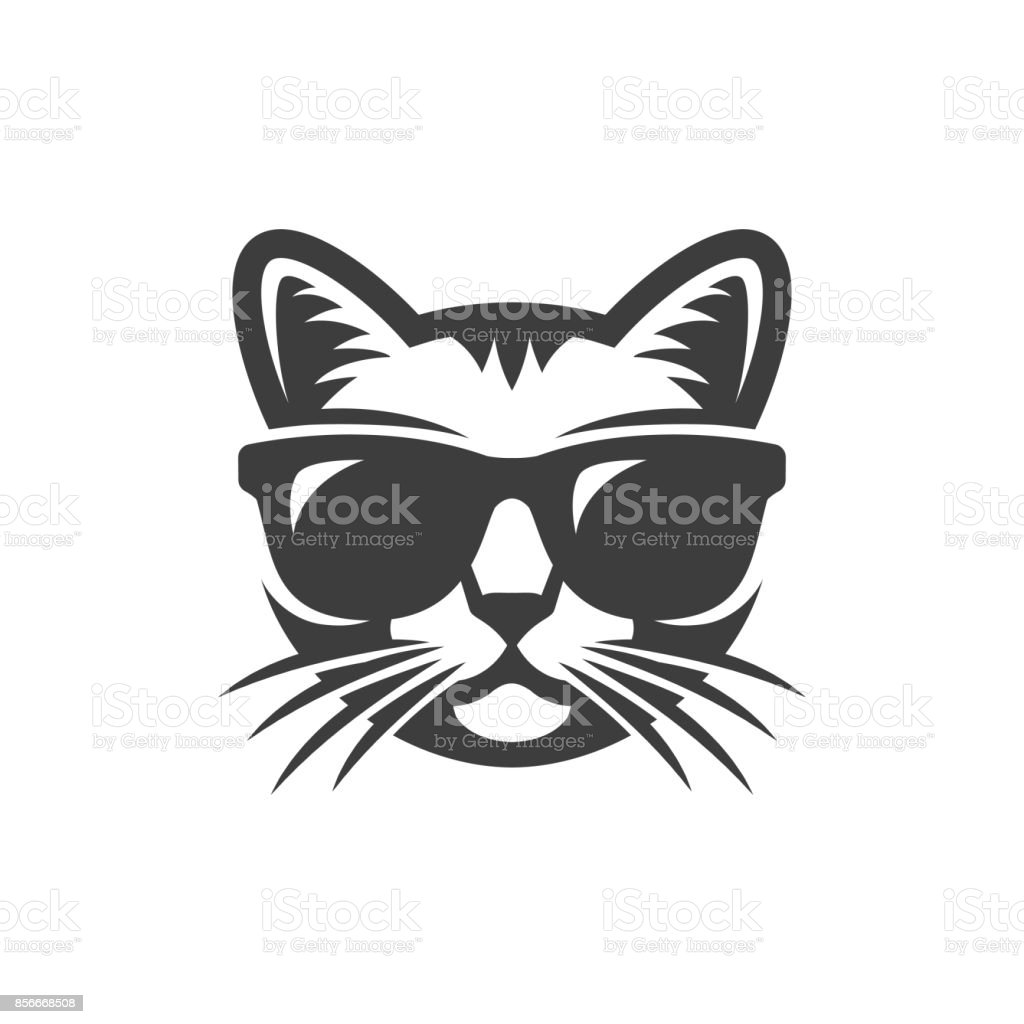 Chat à lunettes de soleil - Illustration vectorielle