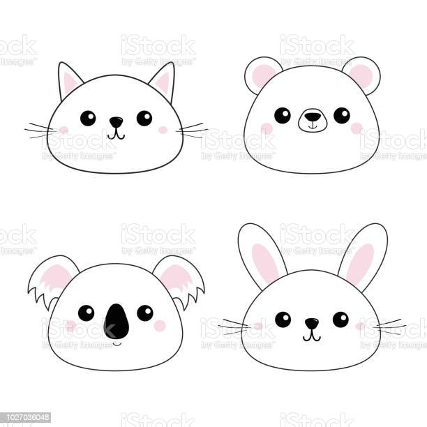 Cat kitten bear rabbit hare grizzly koala head face set doodle linear vector id1027036048?b=1&k=6&m=1027036048&s=612x612&h=sqbggqztcatc1xmnnmixlo9anzxh3h3sboaybuezawg=