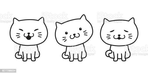 Cat kitten icon cat cartoon vector doodle illustration vector id827298634?b=1&k=6&m=827298634&s=612x612&h=xokyfa4 9gawpw ozyl8wqaiphnaypckpwukpz lcj8=