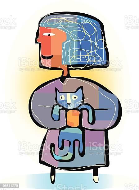 Cat Lady-vektorgrafik och fler bilder på Bekväm