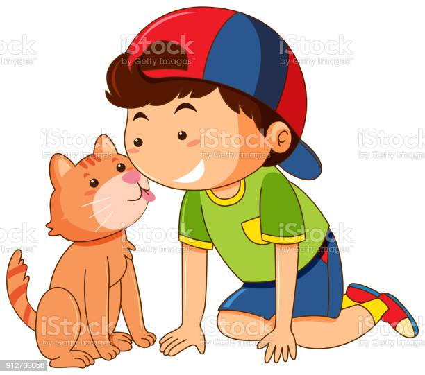 Cat licking boy face on white background vector id912766058?b=1&k=6&m=912766058&s=612x612&h=ao7azkk3kucax8qi7vtzh edvokmiism3dr vc7cmxy=