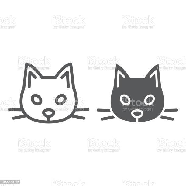 Cat line and glyph icon animal and zoo pet sign vector graphics a vector id983273198?b=1&k=6&m=983273198&s=612x612&h=i1  9vbtubwp i2m1weutvpijt nsu4v0j9ywzma9hs=