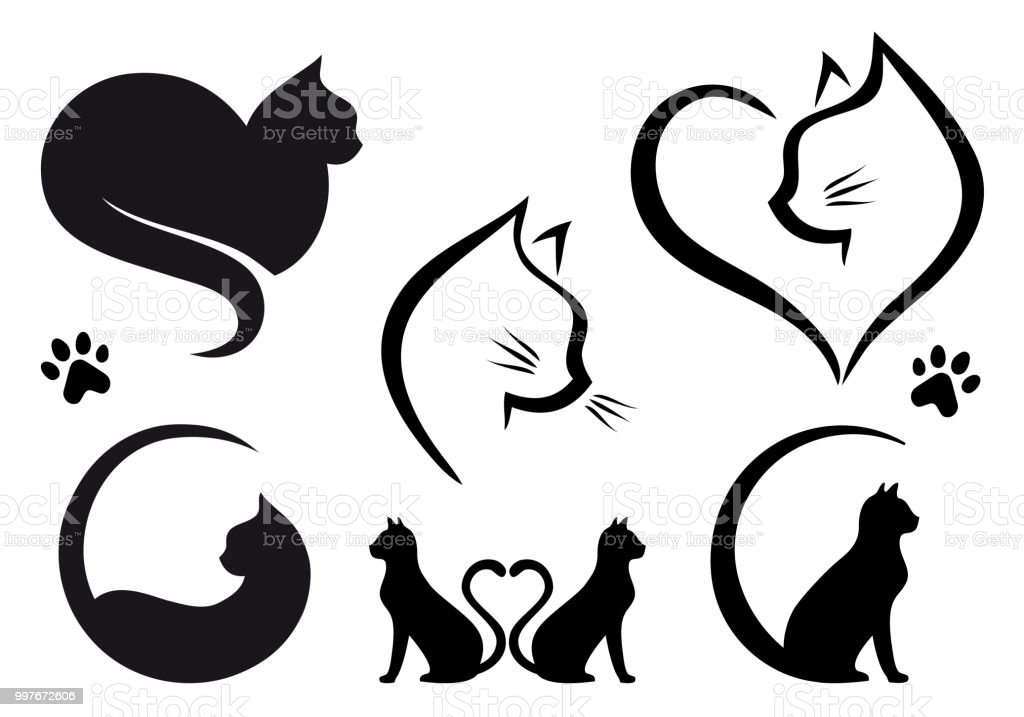 Cat-Logo-Design, Vektor-set – Vektorgrafik
