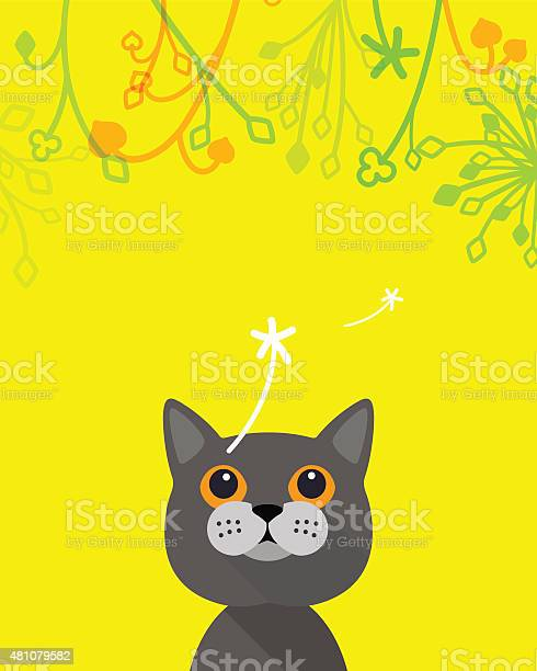 Cat looking up the flower and dandelion cartoon vector vector id481079582?b=1&k=6&m=481079582&s=612x612&h=9ajolgab1lxcqvsvklj86mzqybsufxetxbaop7gge w=