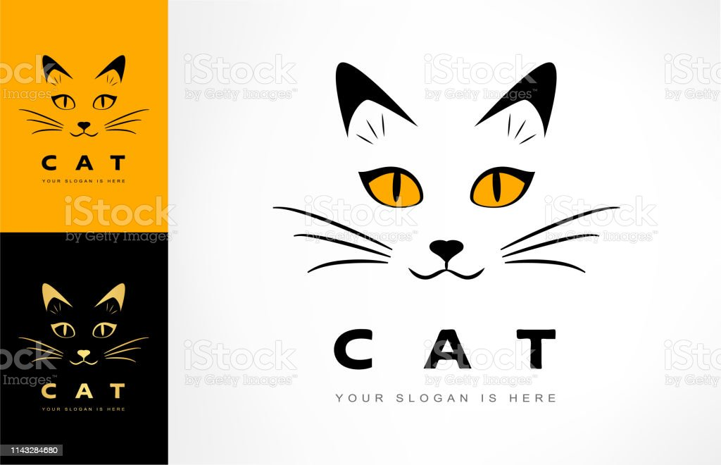 cat muzzle vector. animal illustration.