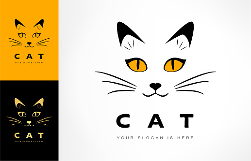 cat muzzle vector. animal illustration.
