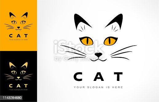 istock cat muzzle vector. animal illustration. 1143284680