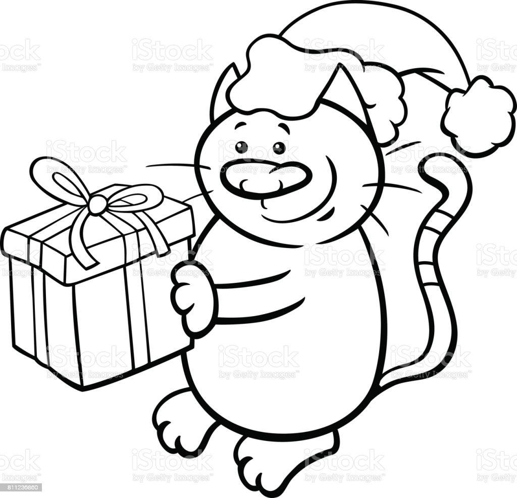 Katze Auf Weihnachten Malvorlagen Stock Vektor Art und mehr Bilder ...