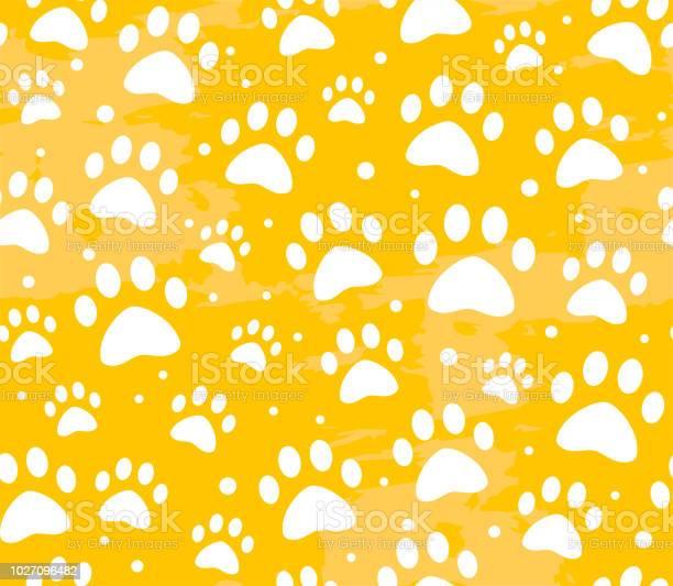 Cat or dog paw seamless patterns backgrounds for pet shop websites vector id1027096482?b=1&k=6&m=1027096482&s=612x612&h=3jzjzqcohybypweivoznlxfcoueamwx23jitbmerbxk=