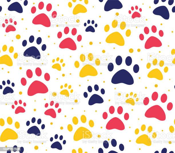 Cat or dog paw seamless patterns backgrounds for pet shop websites vector id1048752508?b=1&k=6&m=1048752508&s=612x612&h=pffi9ng7ouo6q1b3hot1rbaxqsndrer5zbhihx5b19e=