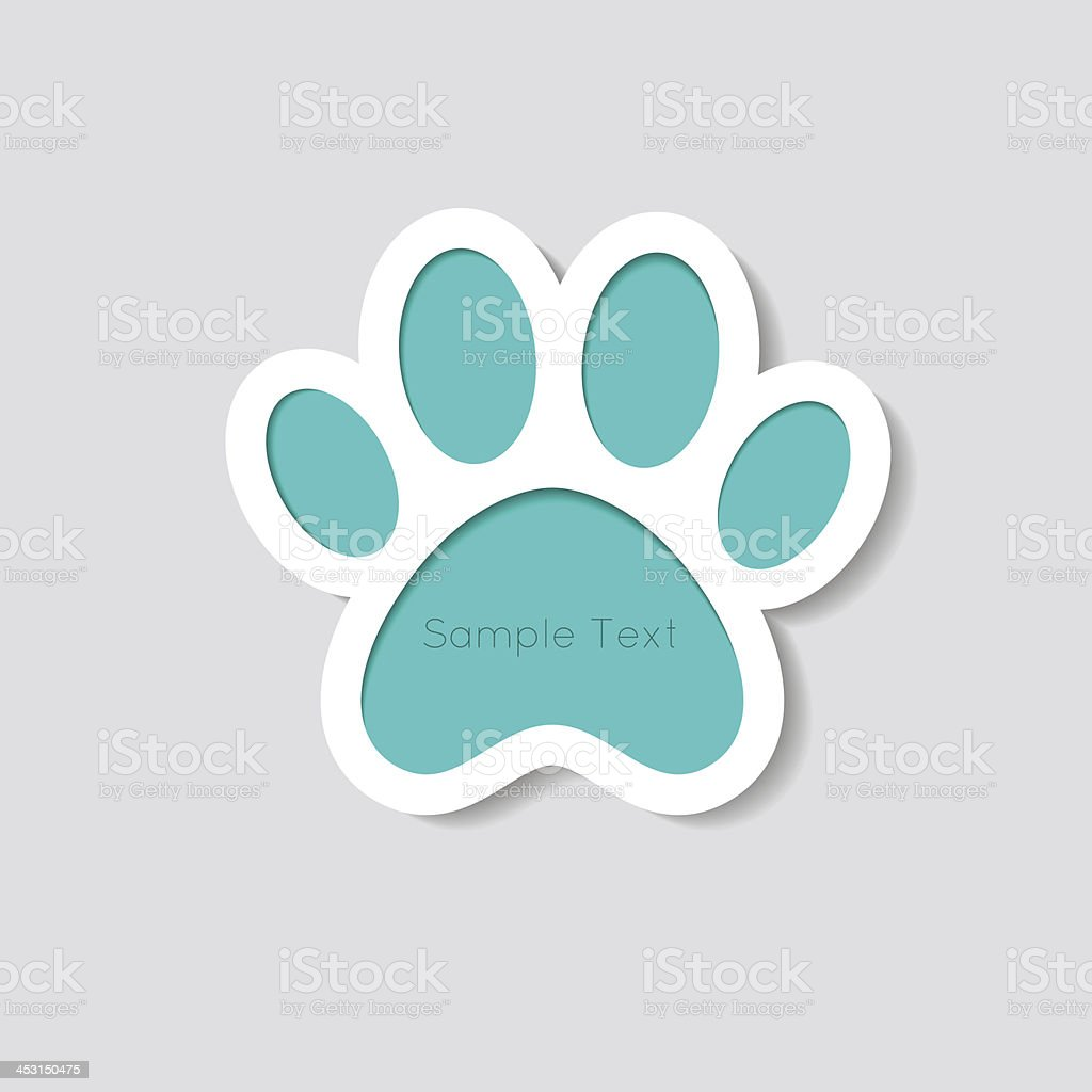 Cat paw banner - vector illustration vector art illustration