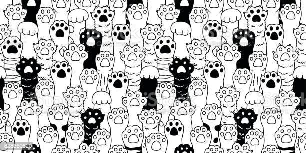 Cat paw icon cat breed kitten hand doodle illustration seamless vector id828360820?b=1&k=6&m=828360820&s=612x612&h=rzj6xl6wwhpnmsgfnxpkn lpuwmmadbyt7i2vc8aeec=