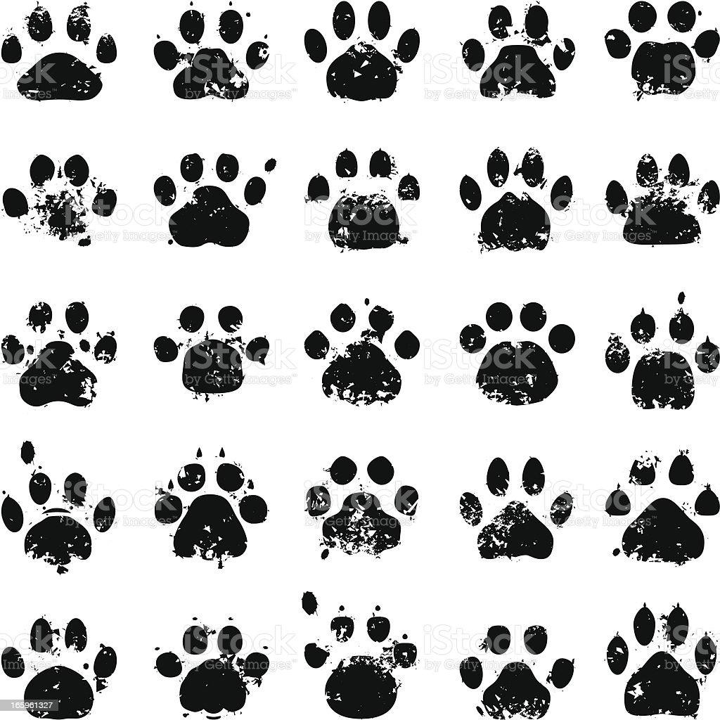 Cat Paw Prints vector art illustration