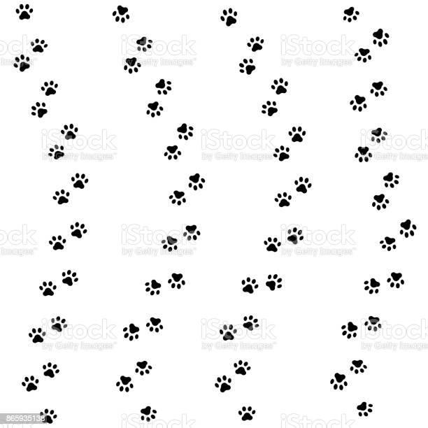 Cat paw track seamless animal pattern of paw footprint vector vector id865935138?b=1&k=6&m=865935138&s=612x612&h=dvf30rfdr7dm1tpuluenmgx7vlw7a xnde4ig30i1ts=