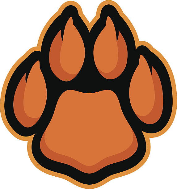 Cat Paw This paw is ready for action. Perfect for your cat-themed sports team logo. Customize with your own colors and text mascot stock illustrations
