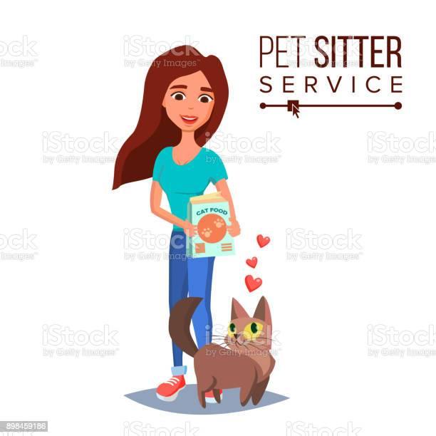 Cat pet sitter vector cat sitter walking pet taking a rest cartoon vector id898459186?b=1&k=6&m=898459186&s=612x612&h=f46ee qixaklcxq0zkwhhcqfogub8bqqfl4zeo5a0n0=