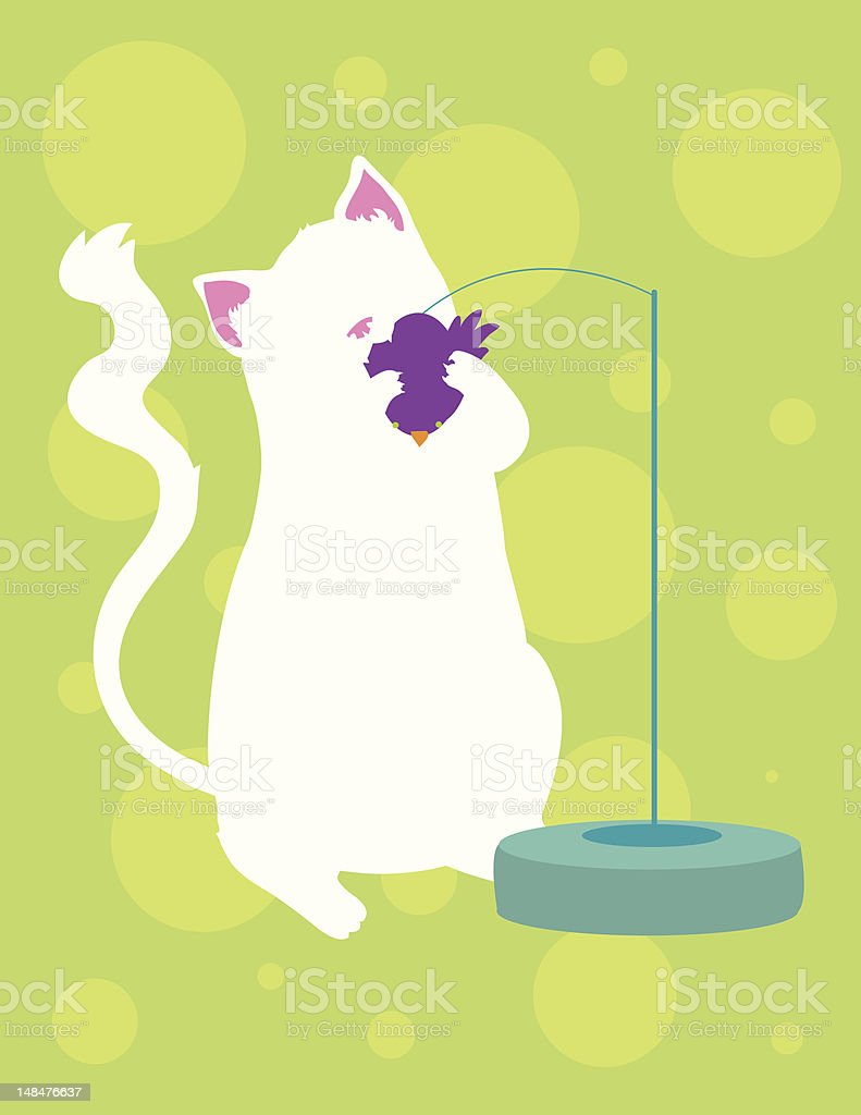 Cat Playing with Toy royalty-free stock vector art