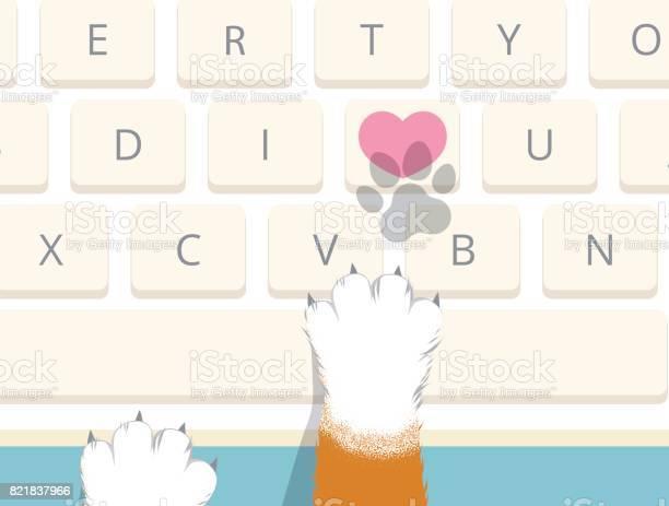 Cat pressed heart key on computer keyboard to send i love you vector id821837966?b=1&k=6&m=821837966&s=612x612&h=vhnh0onmwjpu5rid1bb3bvzdtgy9n7yf3izcicntwny=