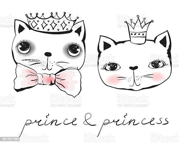Cat prince and princess vector id601931280?b=1&k=6&m=601931280&s=612x612&h=t6sxd6zpnm9pjpz6yrxufe ih2wtj kkq2okti6asmo=