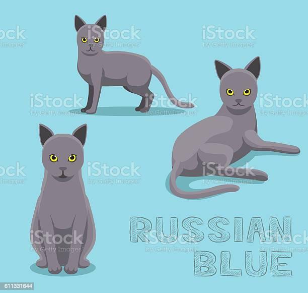 Cat russian blue cartoon vector illustration vector id611331644?b=1&k=6&m=611331644&s=612x612&h=b2srhl41naqga4swmwvp04z3kzxj9zhv4 te5e7cahm=