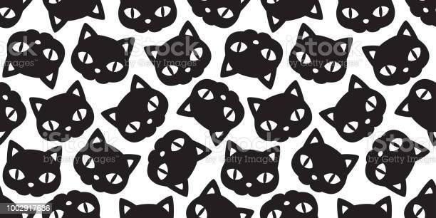 Cat seamless halloween vector pattern black kitten calico scarf tile vector id1002917636?b=1&k=6&m=1002917636&s=612x612&h=simtgkdhxo 5e0wsbhnnl43z8qj6aogi6wkjbnbu1o4=