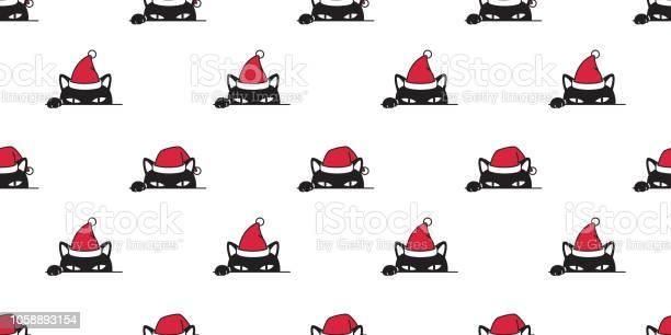 Cat seamless pattern christmas vector cartoon santa claus hat xmas vector id1058893154?b=1&k=6&m=1058893154&s=612x612&h=symiulbenmiqh5n p9beo02o9fsabw3m t wkriuqke=