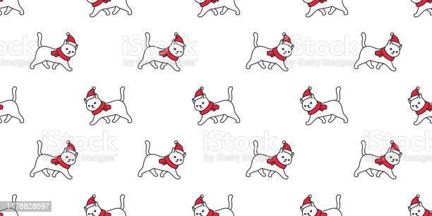 Cat seamless pattern christmas vector santa claus hat kitten walking vector id1178828597?b=1&k=6&m=1178828597&s=612x612&h=ghxf roo0l3lnuad5vpqgez eabjtmtj nuc5rkfhba=