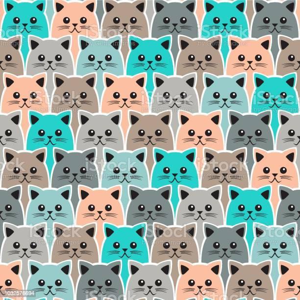 Cat seamless pattern vector background can be used for wallpaper vector id1032576694?b=1&k=6&m=1032576694&s=612x612&h=3ugvzfljeibyvmhg1trnnxwbxj2vbqcgzkgmkpkc9hg=