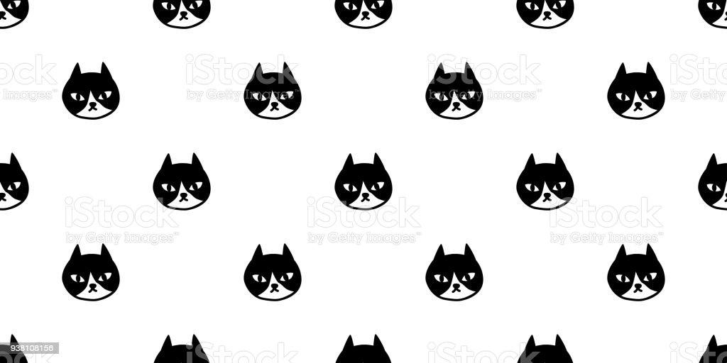 cat seamless Pattern vector kitten calico Halloween isolated wallpaper background doodle vector art illustration