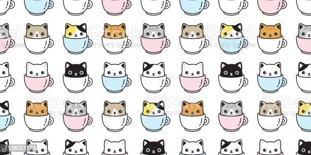 Cat seamless pattern vector kitten coffee cup calico breed scarf vector id1158051773?b=1&k=6&m=1158051773&s=612x612&h= z tybuvjpgw6xzhhwm4qgrye4dlhjoqe6ok6lbshmm=