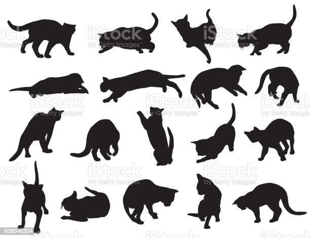 Cat silhouette set vector id656346304?b=1&k=6&m=656346304&s=612x612&h=6dsax0ruzomihm u32n0gfpv1vjxmkmkktlwe1enf8w=