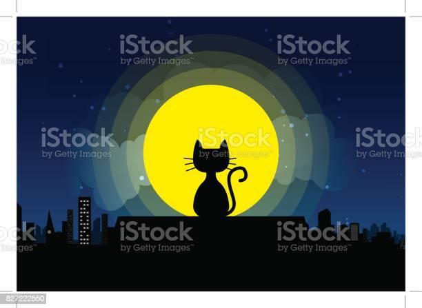 Cat sitting on a roof background of the moonlight vector id827222550?b=1&k=6&m=827222550&s=612x612&h=2znyvzqskinrjzg5tdcmzedc yskmp9 pipmkmokyug=