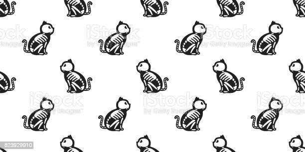 Cat skull bone skeleton ghost halloween seamless pattern background vector id823929910?b=1&k=6&m=823929910&s=612x612&h=dhbd0pspzbrww o sijshzsyi4rvz7u3xfzzblhngho=