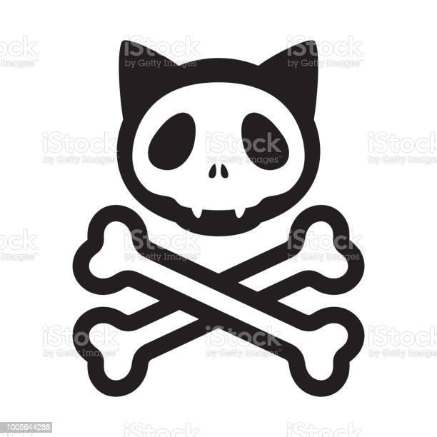 Cat skull crossbones vector icon logo pirate halloween kitten cartoon vector id1005644288?b=1&k=6&m=1005644288&s=612x612&h=mwnwrgkdgme19hhtrupyq2t awemlhpl3ub5kykq9hq=