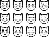 Cat smiley icons