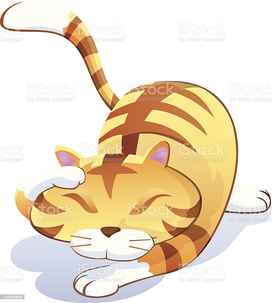 Cat Squats royalty-free stock vector art