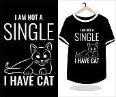 Cat T shirt design template vector graphic element