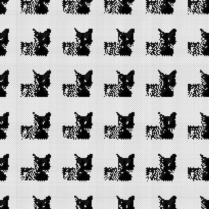 Cat textile pattern